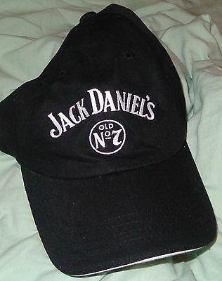 Jack Daniels Baseball Style Golf Hat - Black - Traditional Logo - NEW