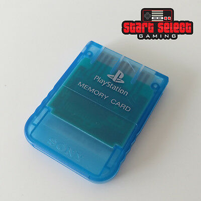PlayStation 1 Official Memory Card Ice Blue PS PS1 PSX PlayStation SCPH-1020 1MB