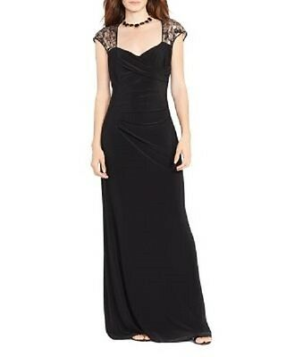 RALPH lAUREN EVENING DRESS EMELIA LACE