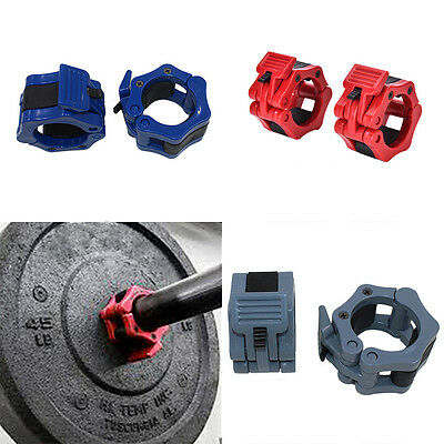 """2""""Lock Collars Standard Olympic Barbell Collars Weight Lifting Fitness Train WB"""