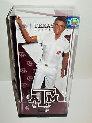 Texas A&M University Barbie Cheerleader Ken Doll African American X9207 Basics