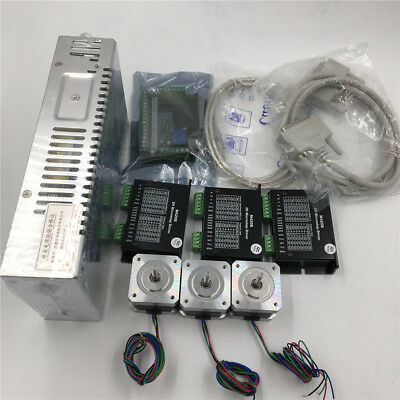 Nema17 3Axis Stepper Motor Driver Kit 0.75Nm L63mm 1.5A&5Axis Board Supply Set