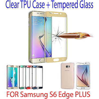 Full Curved GOLD Tempered GLASS Screen Protector FOR Samsung Galaxy S6 Edge Plus