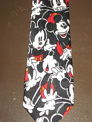 """Boys Vintage Mickey Mouse Clip On Tie Used Mickey Inc. 14"""""""
