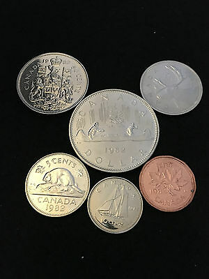 1982 Set of Canadian coins