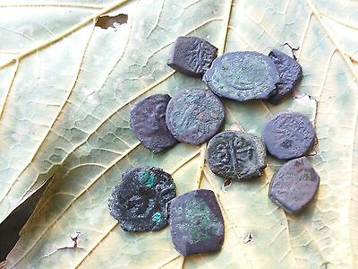 Lot of 10 Coins from the time of emperor of Byzantium the 1-4 century AD Christ?
