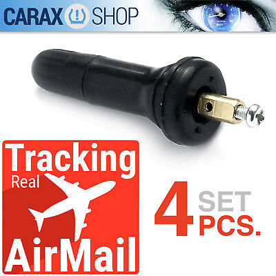 Valve Rubber TPMS stems Service kit 4 pcs RDKS Buick Ford Cadillac Chevy Lincoln