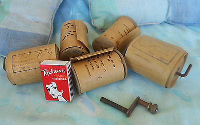 antique paper rolls for Tanzbar or zither + handle. hard to find  good condition