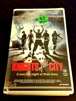 KNIGHTS OF THE CITY - Rare Oz VHS 1986 Roadshow Premiere - LEON ISAAC KENNEDY