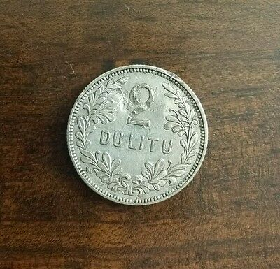 2 litu lithuanian silver coin 1925 slightly damaged