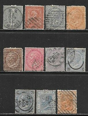 ITALY - 1863-1877 Very Nice All Used Issues Selection (Nov 0188)
