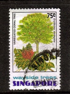 Singapore 1976   SG271 Variegated Coral Tree 75c  used - top value of set