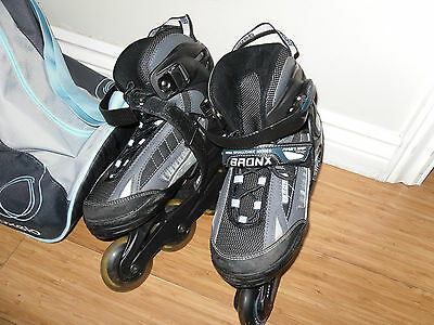 Bronx Rollerblades Adjustable Size 4-7/ with Carry Bag