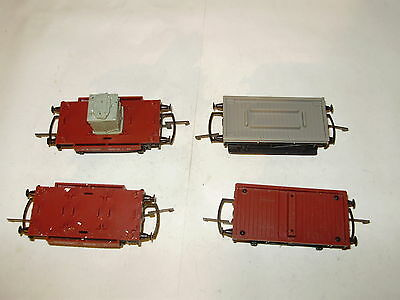 Hornby Goods wagons x 4. Fair to good cond. No Box. OO. Made in the UK