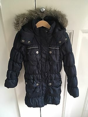 Girls Navy Winter Coat From Next Age 7-8