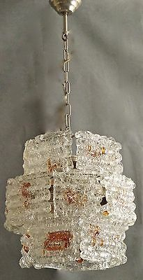 SPECTACULAR UNUSUAL RARE   60s CHANDELIER = ANGELO BROTTO-MAZZEGA /MURANO