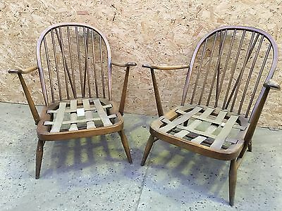 Pair of Mid Century Ercol Windsor Chairs