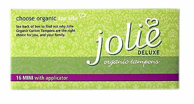 Jolie Organic Mini Applicator Tampons - Purchase 2 Get An Extra 10 Boxes Free