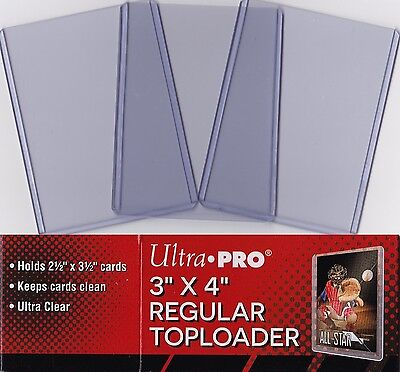 """Ultra Pro Toploaders Clear 3"""" x 4"""" Regular Trading Card Protection Top Loader"""