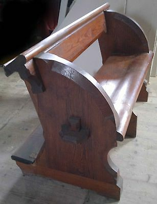ANY SIZE 1875 Pugin Pew Victorian ChurchNeoGothic provenance chapel settle bench