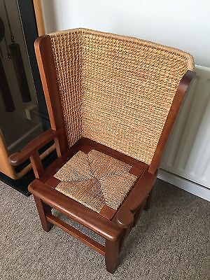 A Beautiful Orkney Child's High Back Woven  Chair