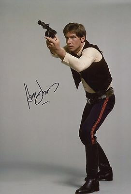 """Harrison Ford ~ American Actor  / Star Wars """"han Solo"""" ~ Signed 12X8 Photo + Coa"""