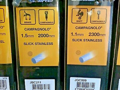 4 Campagnolo inner Brake & Gear cables crimps Stainless Steel Full set Road bike