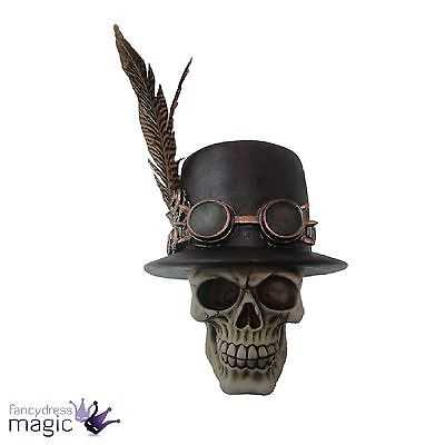 Nemesis Now Steampunk Gothic Aristocrat Skull Ornament Home Office Gift Figurine