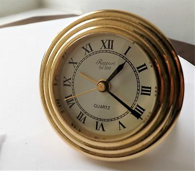 Solid Brass Rapport Of London Quartz Alarm Clock