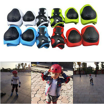 6pcs Kids Elbow Knee Wrist Safety Pads Gear Skating Scooter Bike Protector Kids