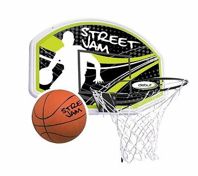 Street Jam Basketball Hoop, Backboard & Ball Set - Wall Mount - Full Size