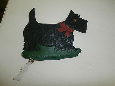 Scottish Terrier/scottie Dog/scotty Shaped Zippered Leather Coin/ Change Purse