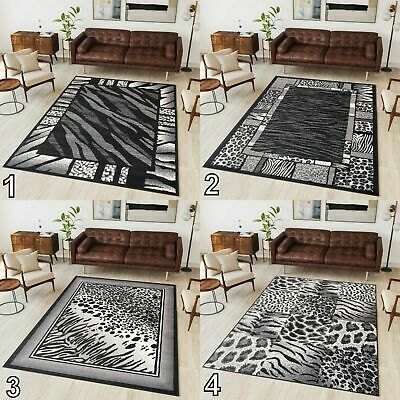 NEW BEAUTIFUL MODERN RUGS TOP DESIGN AFRICA ! Different Sizes ! BLACK