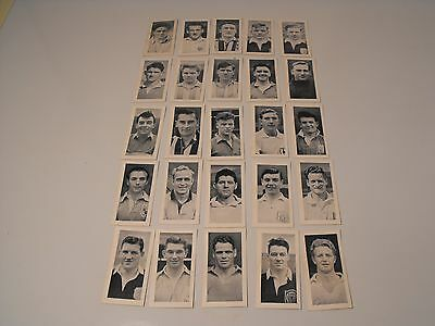 Mitcham foods cards. Full set of 25. Footballers - 1956.