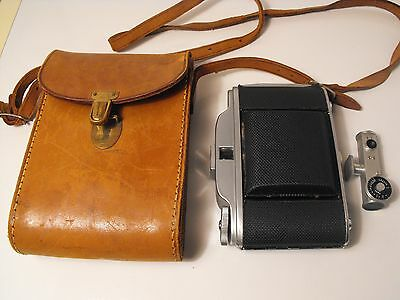 Kershaw 450 folding camera 35mm, in original vintage leather case + View finder