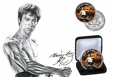 Bruce Lee - Fist Of Fury Limited Edition JFK Kennedy Half Dollar Coin with COA