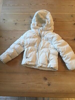Ralph Lauren Girls White Quilted Coat With Hood Aged 6yrs