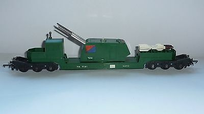 Triang missile launcher wagon with 2 missiles