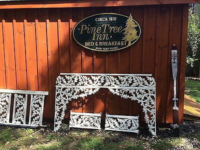Vintage cast aluminum Porch Architecture ornate fence & garden Decor 107 Piece