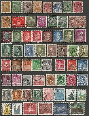 GERMANY - Collection of 194 stamps from 1940s to present day