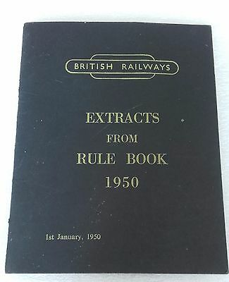 British Rail Rule Book Extrats from 1950