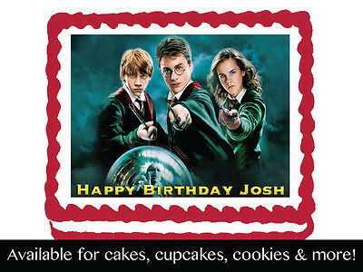 Harry Potter Edible Cake Topper Cupcake Cookie Decoration Birthday Party