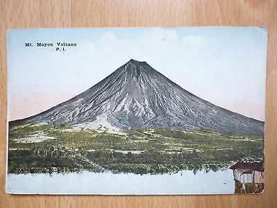Mount Mayon  Philippines Vintage Postcard