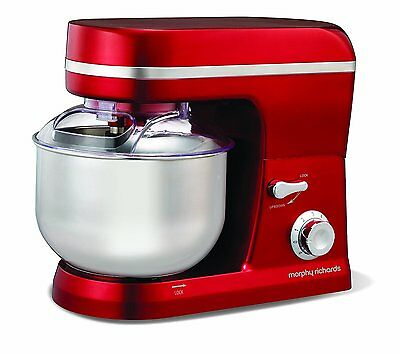 Morphy Richards Accents Heavy Duty 800W Red Stand Mixer 400003