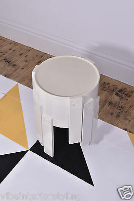 Space Age/Vintage/Retro Stacking Tables in White Made in Holland
