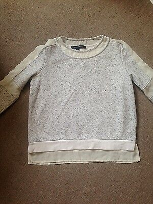 french connection fcuk grey sweatshirt jumper size s