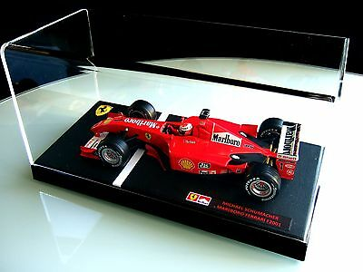 Michael Schumacher 1/18 Ferrari F1 2001 Full Grand Prix Race Spec & Lucite Case