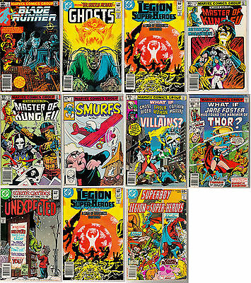 VINTAGE COMIC BOOKS - LOT OF 11 - MARVEL and DC