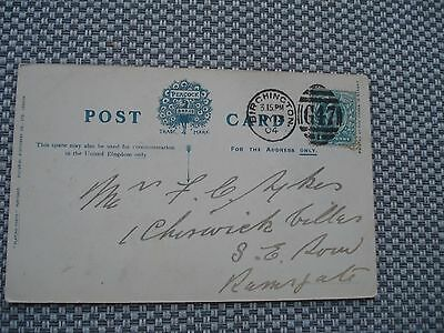 "GB 1904 Post Card with ½d. stamp cancelled ""Birchington G47"" duplex"