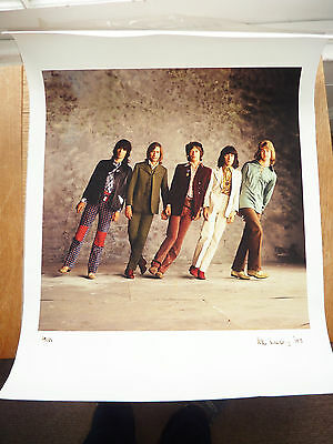 Original Limited Edition Rolling Stones Photograph Signed Pete Webb 1971. 35/50